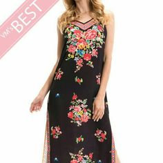 Black  Maxi dress Halter style,  back open whith tassels, very light, sexy and fresh you can use it for the beach or for dinner, great for the summer, full of color Dresses Maxi