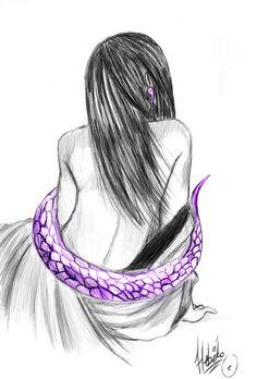 Orochimaru purple snake by Thanisan on DeviantArt Naruto, Kakashi, Purple Snake, Deviantart, Life, Drawings