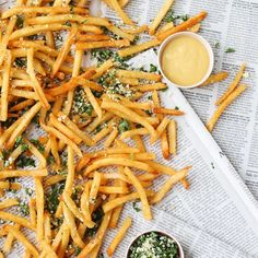 Lemon herb french fries