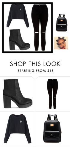 Black On Black by teal-tea-turquoise on Polyvore featuring Chicnova Fashion and New Look