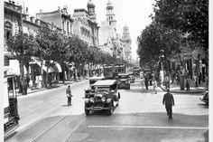 Avenida 18 de Julio y Paraguay. Año 1930.