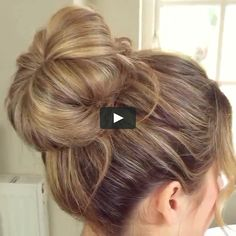 """This is """"Hair bum"""" by """"Sascha Christensen"""" on Vimeo, the site for high-quality videos and everyone who loves such videos. This is """"Hair bum"""" by """"Sascha Christensen"""" on Vimeo, the site for high-quality videos and everyone who loves such videos. Short Hair Styles Easy, Medium Hair Styles, Curly Hair Styles, Buns For Short Hair, Short Ponytail, Bun Styles, Easy Hairstyles For Medium Hair, Messy Bun Hairstyles, Girl Hairstyles"""