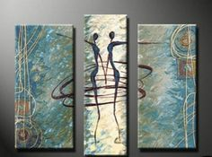 Abstract Painting Dancing Figure Abstract Art Living Room Wall Art Modern Art Living Room Wall Art Painting for Sale 3 Piece Canvas Art, 3 Piece Wall Art, Canvas Wall Art, Large Canvas, Abstract Art For Sale, Oil Painting Abstract, Hand Painting Art, Painting Canvas, Figure Painting