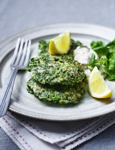 Kale, pea and ricotta fritters - get your veggies in before lunch!