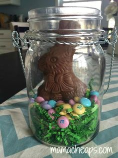 Mason Jar Centerpieces For Easter