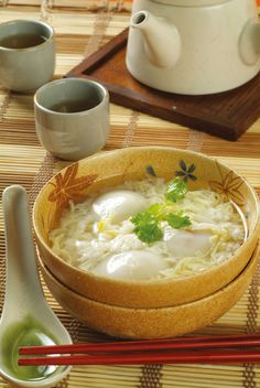 egg drop soup with tangyuan (rice ball) & sweet fermented rice | Taiwanese Dessert