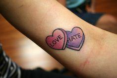 candy heart tattoo - Sök på Google