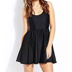 Black Aa Figure Skater Dress Nylon