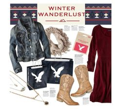 """Winter Wanderlust with American Eagle: Contest Entry"" by heather-reaves ❤ liked on Polyvore featuring American Eagle Outfitters and aeostyle"
