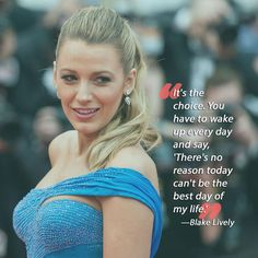 "Celebrity Quotes : QUOTATION - Image : Quotes Of the day - Description or, you can chose to say, ""There's every reason in the world for this to Live Quotes For Him, Love Quotes, Quotes Quotes, Olivia Palermo, Blake Lively Quotes, Sober Celebrities, Blake And Ryan, Motivational Quotes, Inspirational Quotes"