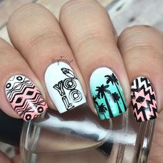 You only live once! So true! This cute manicure was created by @gotnail using BM-S303 BM-S305 BM-S310