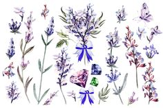 HandDrawn Watercolor Bundle FLOWERS2 by knopazyzy on @creativemarket