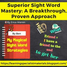 """For many struggling readers, sight words can seem like an impossible hurdle. Sight words are high-frequency words that are commonly seen when reading and used when writing. Students are encouraged to memorize these words by sight because most do not follow standard decoding rules and can not be """"sounded out.""""... #sightwords Dyslexia, Dysgraphia, Help Teaching, Teaching Ideas, Social Emotional Development, Reading Specialist, Sight Word Activities, High Frequency Words, Teaching Language Arts"""