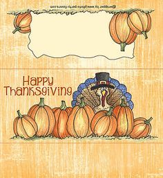 Free Printable Thanksgiving Turkey Candy Bar Wrapper, ready to personalize with your  message.