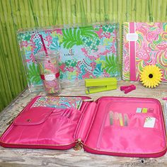 """lilly pulitzer notebook inside 