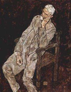 Egon Schiele (1890 – 1918) - Portrait of Johann Harms, 1916