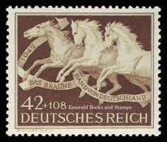 EBS Germany 1942 Brown Ribbon Horse Race Michel No. 815 MH* | eBay
