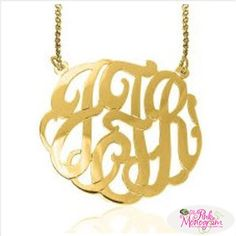 Monogrammed Interlocking Necklace 10 karat gold from the Pink Monogram  Apparel & Accessories > Jewelry > Necklaces