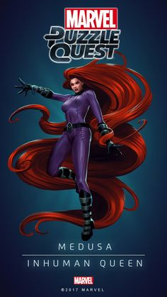 MEDUSA (INHUMAN Queen)   4 Stars   The Resolute Queen   Marvel PUZZLE QUEST