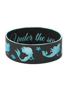 Disney The Little Mermaid Ariel Water Silhouette Rubber Bracelet | Hot Topic