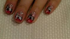 3 Minute Nail Art Design Tutorial - Red French with a needle! #18