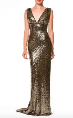 NADINE MERABI - ALANA Plunge Occasion Dress