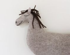 Horse knitted toy