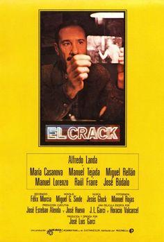 """El crack"", thriller drama film by José Luis Garci (Spain, Hd Movies, Movies And Tv Shows, Movie Tv, Films, Dashiell Hammett, Drama Film, Film Posters, Hd 1080p, Thriller"