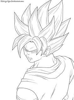 Imágenes de Goku y sus transformaciones para colorear ...