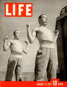 "Japanese soldiers, ""Life"" cover, January 1937"