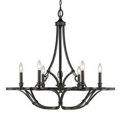 """Selene Aged Bronze Six-Light Chandelier better size for dining room 34"""" diameter"""