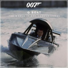 The Q Boat from THE WORLD IS NOT ENOUGH (1999) has a dive function and two homing torpedoes. Boat-builder Doug Riddle constructed 15 boats for the production.
