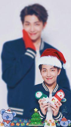 _Merry🎁Xmas🎄_ From Kim Namjoon And Koya🎊 To You🍭 sorry it's too late to say💜_ Jung Hoseok, Kim Namjoon, Seokjin, Foto Bts, Bts Photo, Bts Bangtan Boy, Bts Boys, Bts Memes, Bts Christmas
