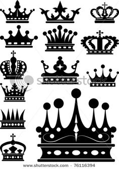 Crown. Vector set. Vintage Elements for your design. Isolated symbols Image ID: 76116394, shutterstock.com