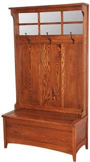 33% OFF Amish Furniture - Hand Crafted Shaker and Mission Furniture Online Outlet Store: Shaker Hall Seat: Oak