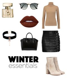 """January Essentials"" by kokozklozet on Polyvore featuring Gucci, Agnona, Gianvito Rossi, Ray-Ban, Lime Crime, Givenchy and VSA"