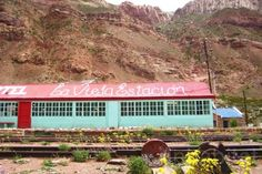 The Old Station (La Vieja Estacion) is an old Argentine Transandine Railway Station turned into a colorful hostel. Located in Puente del Inca, an area rife with geothermal activity, the hostel sits only 5 km away from the Aconcagua National Park entrance.