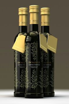 i liike the subtle gold leaves on the bottle, it is a mysterious and expensive looking design. Olive Oil Packaging, Food Packaging Design, Bottle Packaging, Packaging Design Inspiration, Brand Packaging, Olive Oil Brands, Olives, Olive Oil Bottles, Oil Shop