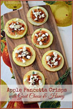 Apple Pancetta Crisps with Goat Cheese & Honey