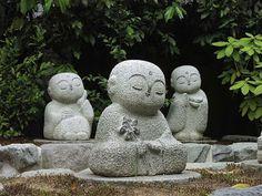 Jizo-Sama - baby Buddha statues in Tokyo Japan