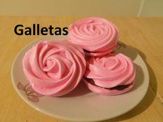 Como Hacer Suspiros de Merengue - Galletas en forma de Rosas(Meringue Ki...