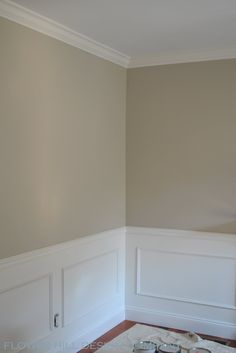 I think Benjamin Moore's Revere Pewter gray is the way to go for the common room/dining room.