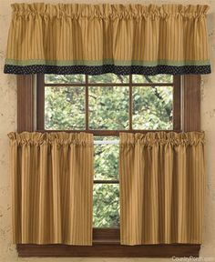 Countrypolitan Lined Border Curtain Valance