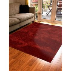 Get My Rugs Hand-Tufted Red Area Rug Rug Size: 8' x 10'