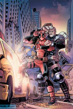 Deadpool and Cable: Split Second #2 Cover ArtCover by Reilly Brown|| Tumblr