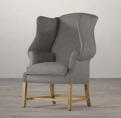 1920s Georgian Wingback Chair | Chairs | Restoration Hardware