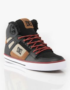 DC Spartan Hi WC Sherpa Lined Skate Shoes! 3bb4c72740fd8