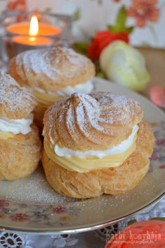 Hungarian Desserts, Hungarian Recipes, Buzzfeed Tasty, My Recipes, Doughnut, Food Videos, Muffin, Sweets, Cream