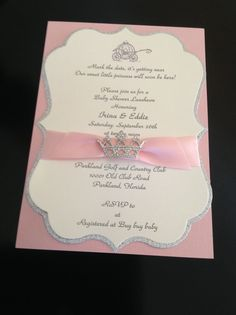 25 Elegant Baby Shower Or Quinceanera Invitation by MilgrimDesigns