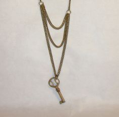 Handmade Antique Key Necklace by RedoneAndVintage on Etsy, $34.00